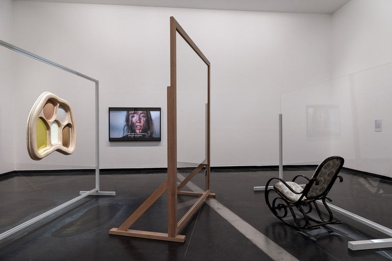 Installation view, Claire Lambe, Mother Holding Something Horrific, 2016. Courtesy Australian Centre for Contemporary Art. Photo by Andrew Curtis