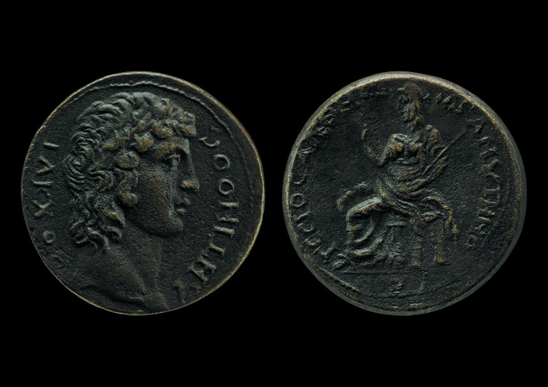 Coin with the head of Antinous, courtesy of The British Museum