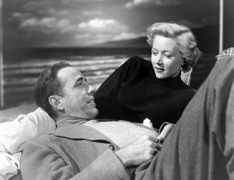 "Humphrey Bogart and Gloria Grahame in ""In a Lonely Place"""