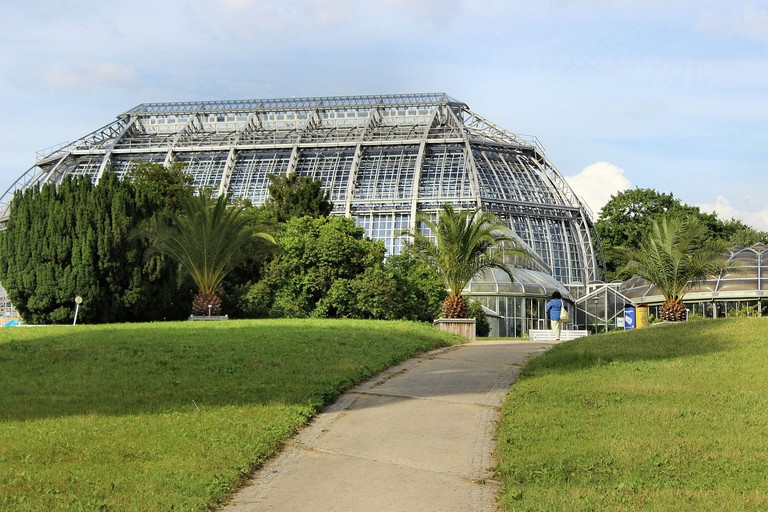 Beautiful conservatory at the Botanical Gardens in Berlin