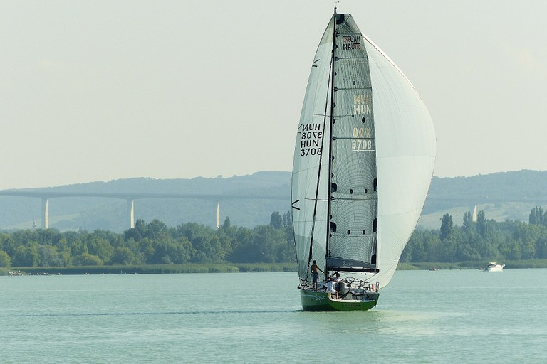 Sailing boat on Lake Balaton