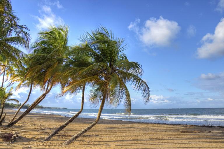 Beach in Luquillo, Puerto Rico