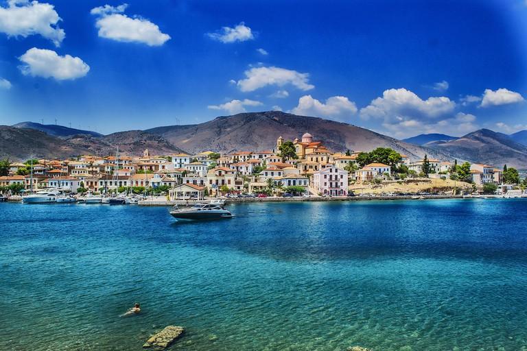 Coastal town of Galaxidi, Central Greece