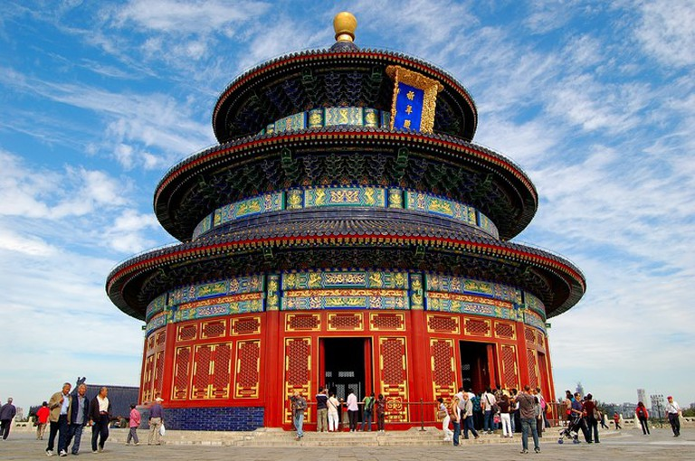 "Hall of Prayer for Good Harvests, the largest building in the Temple of Heaven, Beijing, ""The Story of China"""