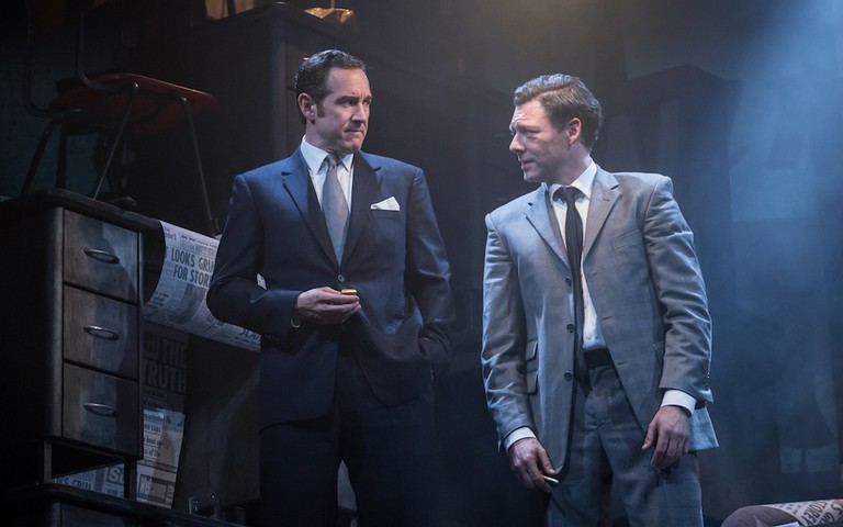 Bertie Carvel (Rupert Murdoch) and Richard Coyle (Larry Lamb)