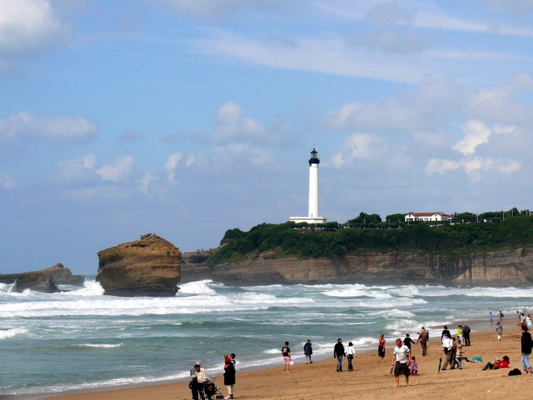 The lighthouse of Biarritz (Pyrénées-Atlantiques, Aquitaine, France).