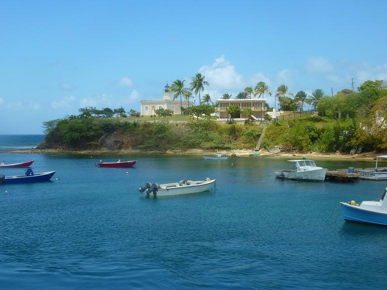 Boats by the Culebra shore