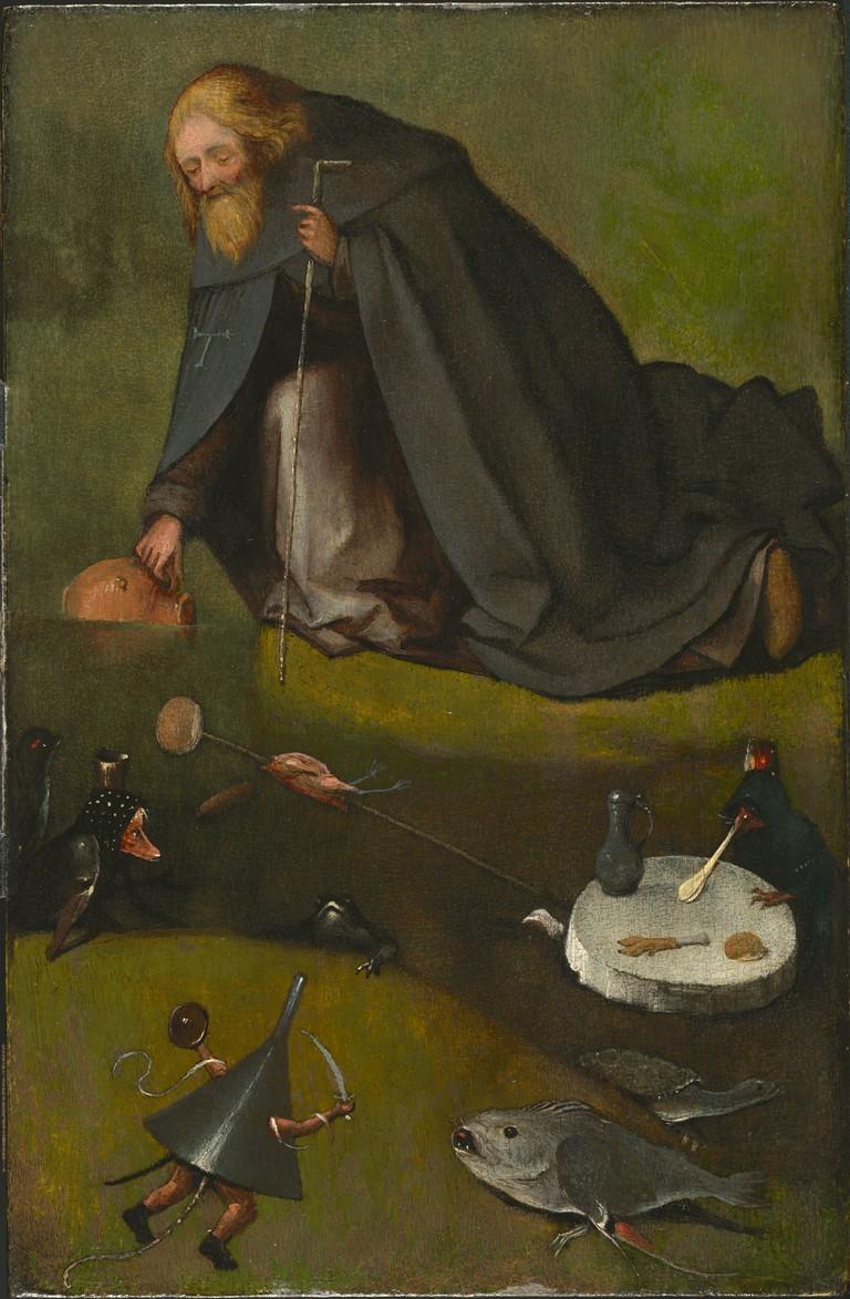 Hieronymus Bosch, 'The Temptation of St. Anthony', ca. 1500–1510 | Courtesy The Nelson-Atkins Museum of Art, Kansas City, Missouri