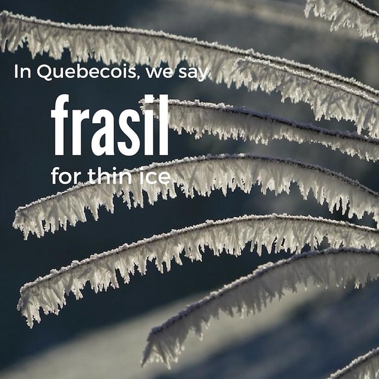 Frasil – Thin ice