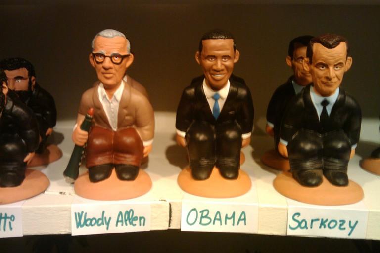 A Barack Obama caganer, or 'Christmas crapper'