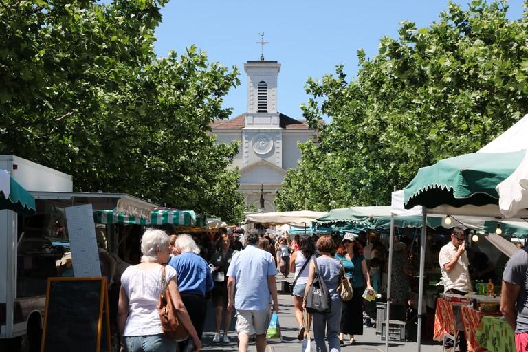 Carouge's weekly market