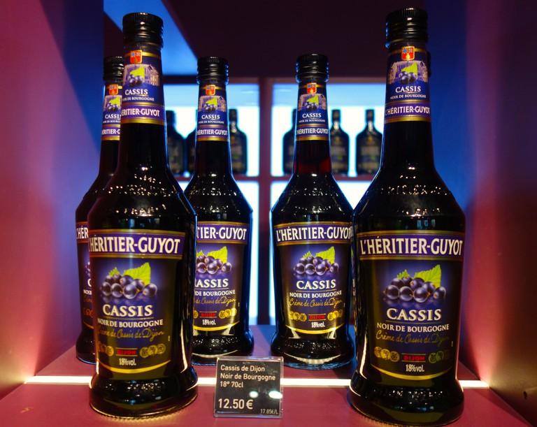 Cassis liqueur from Dijon