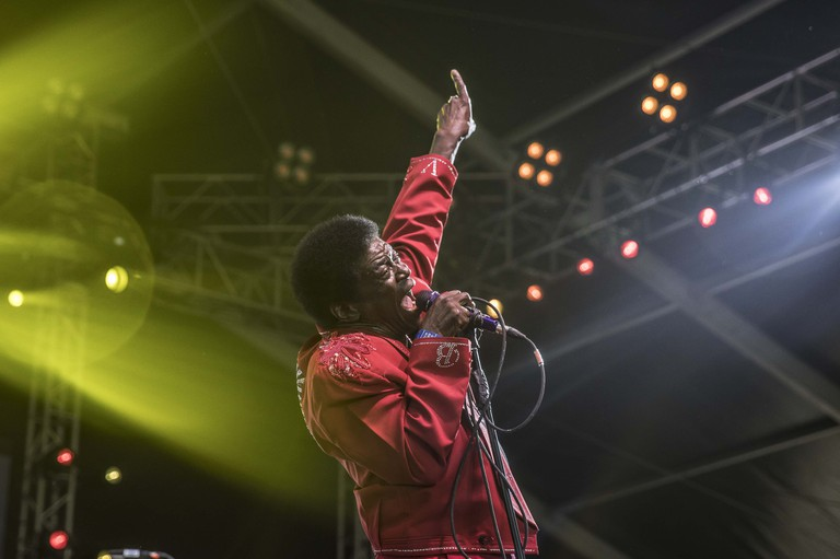 Charles Bradley returning to the stage for Governors Ball to a loud and dedicated crowd