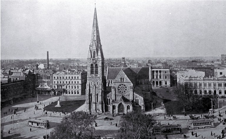 Christ Church Cathedral and Cathedral Square, 1926