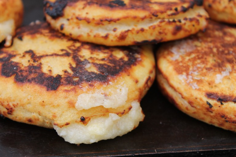 Colombian arepas: much better than the Venezuelan version