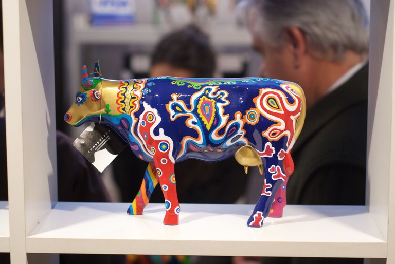 A cow statue at the 2011 La Rural Agricultural Fair