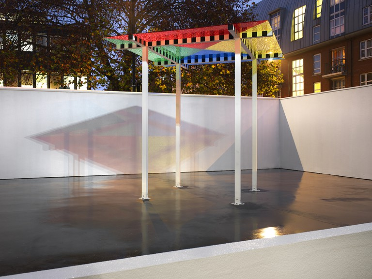 Daniel Buren, 4 Colours at 3 metres high situated work, 2011