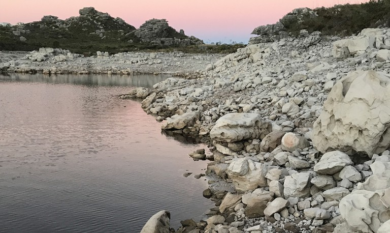 De Villiers Dam on Table Mountain at 40% full