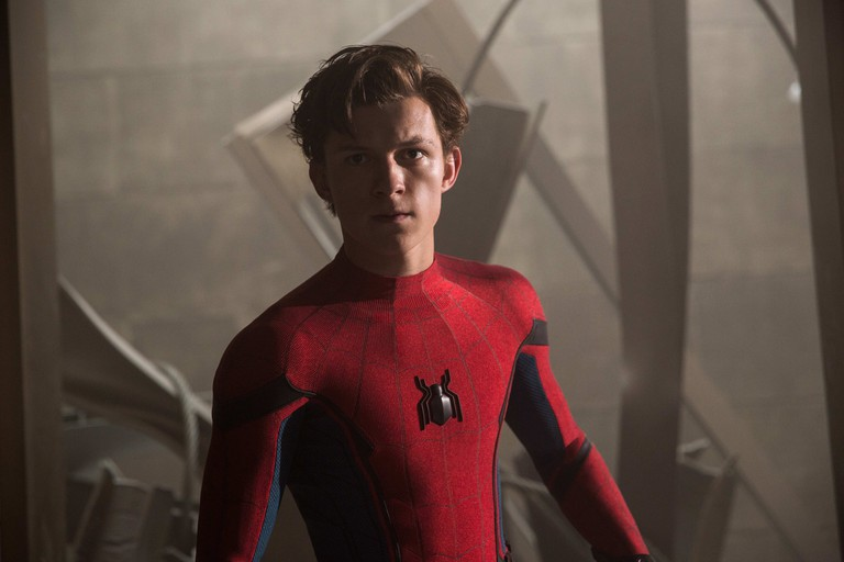 Tom Holland stars as Spider-Man/Peter Parker in Columbia Pictures' 'Spider-Man: Homecoming'