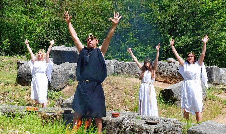 Thracian ritual re-creation on Strandzha Mountain