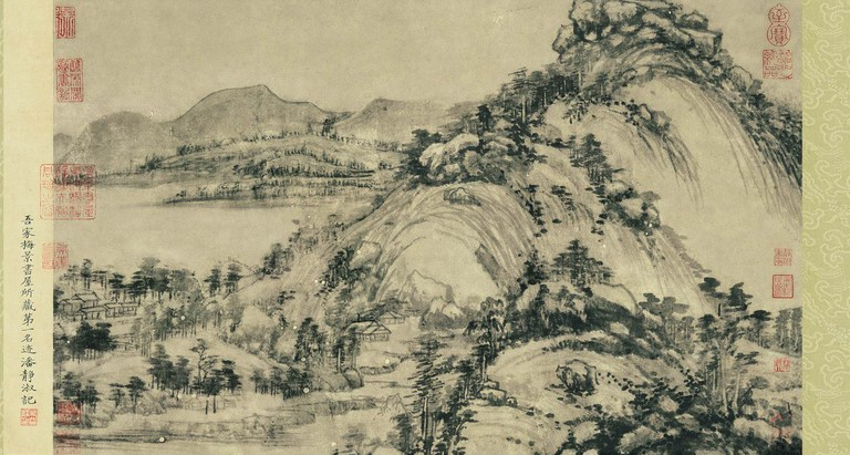 portion of Dwelling in the Fuchun Mountains, by the Yuan Dynasty painter Huang Guangwang (1269 – 1354)