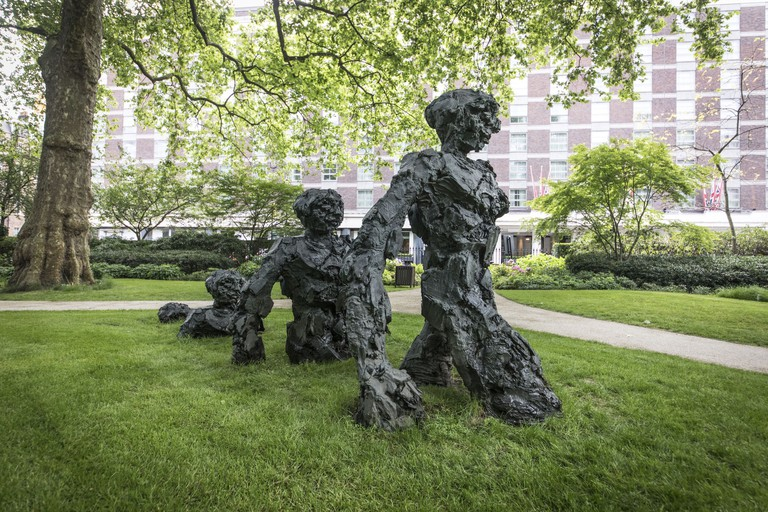David Breuer-Weil's Emergence installed in Portman Square