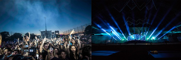 Flume lit up the crowd, literally.