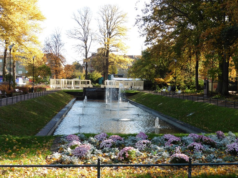 Take a refreshing stroll around Folkets Park