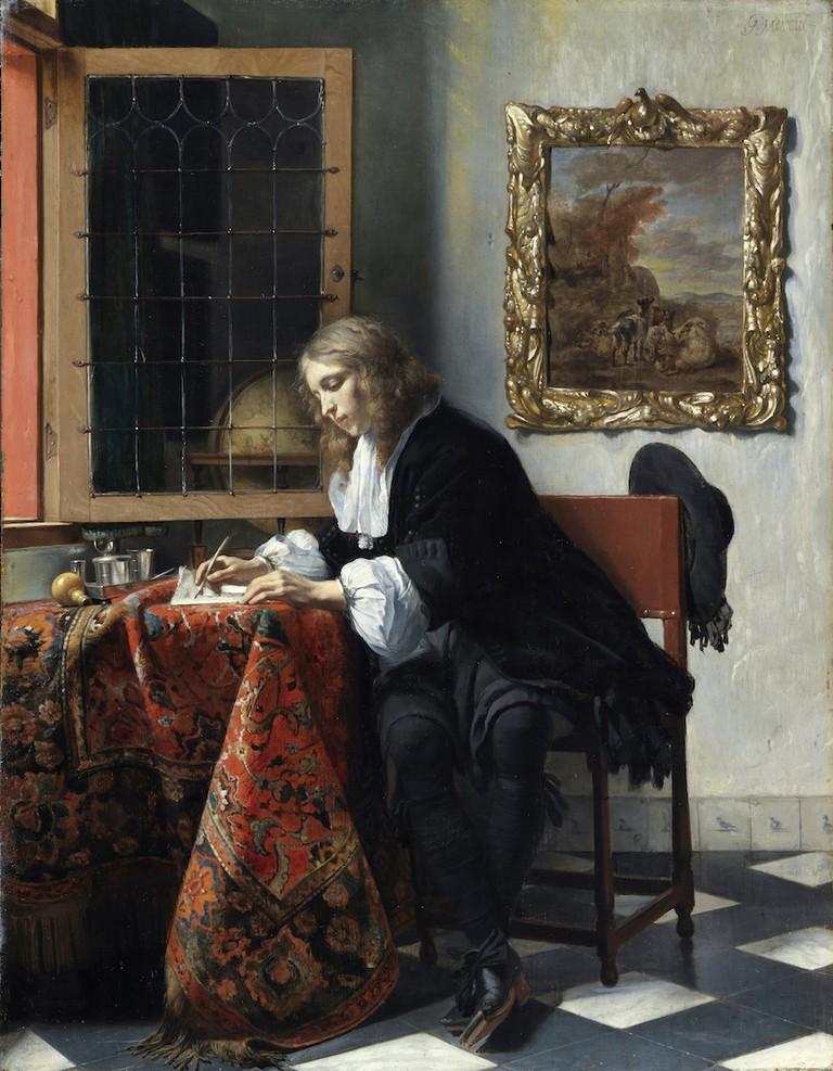 Gabriel Metsu, 'Man Writing a Letter', 1664–6