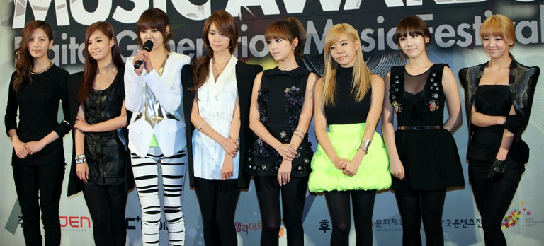 Girls' Generation, one of the most successful Korean girl bands in Japan (2010)