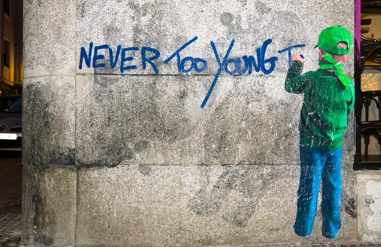 Street art in Malasaña, Madrid