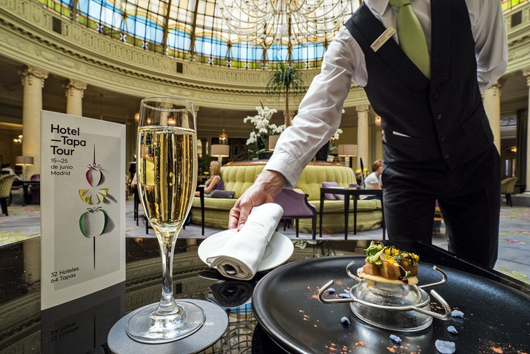 Served with champagne