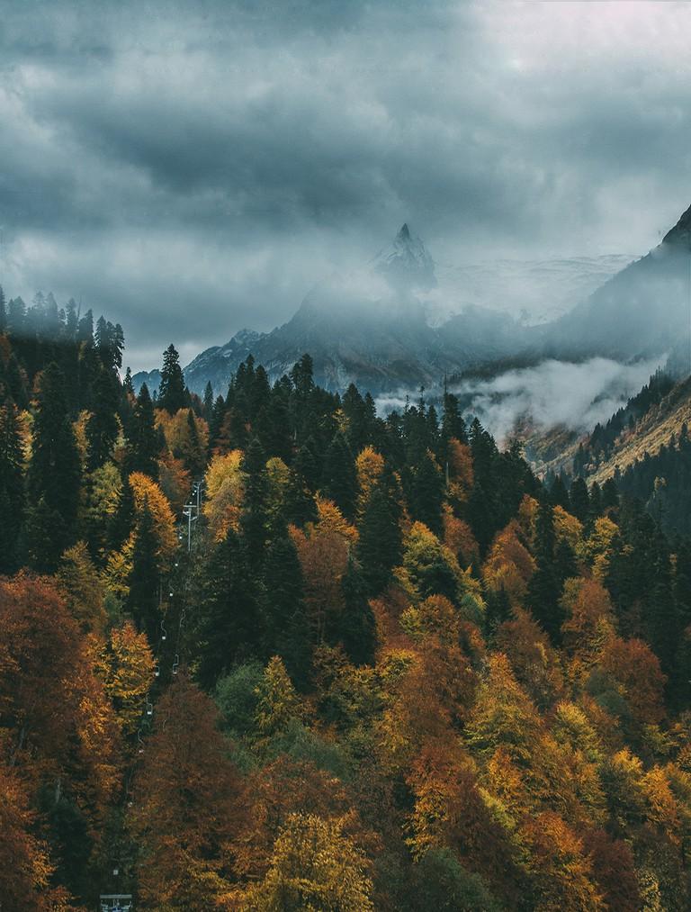 Dombay Mountains, Karachay-Cherkess Republic, Russia