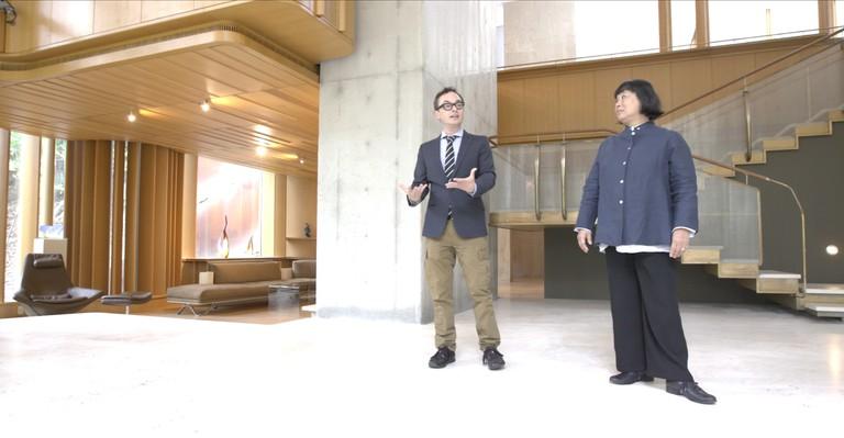 Tommy Smythe and architect Brigitte Shim at Integral House