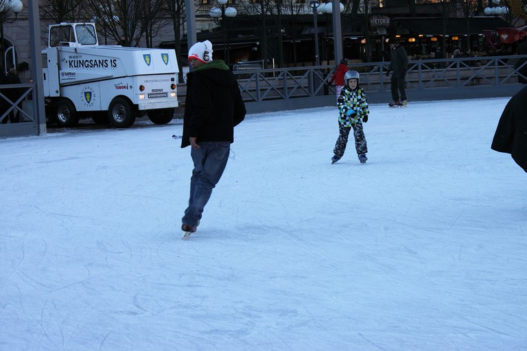 Ice skate in the heart of the city
