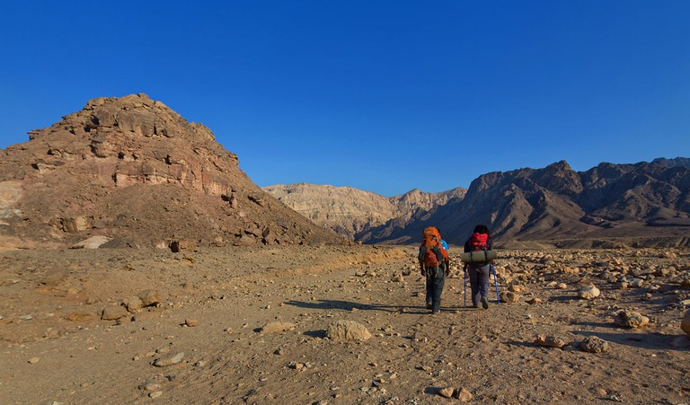 Hikers on the National Trail a few kilometres north of Eilat