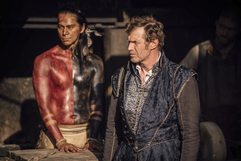 Kalani Queypo as Chacrow and Jason Flemyng as Yeardley | © Carnival Film and Television Limited/Sandor Fegyverneky