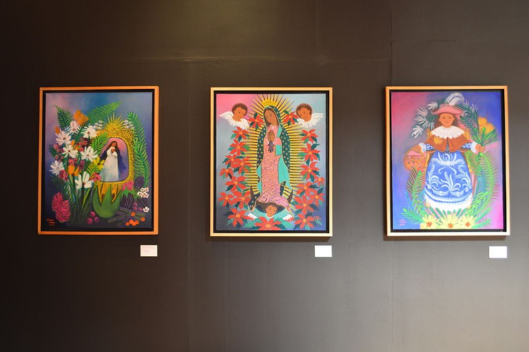 Julia López works exhibited in Mexico