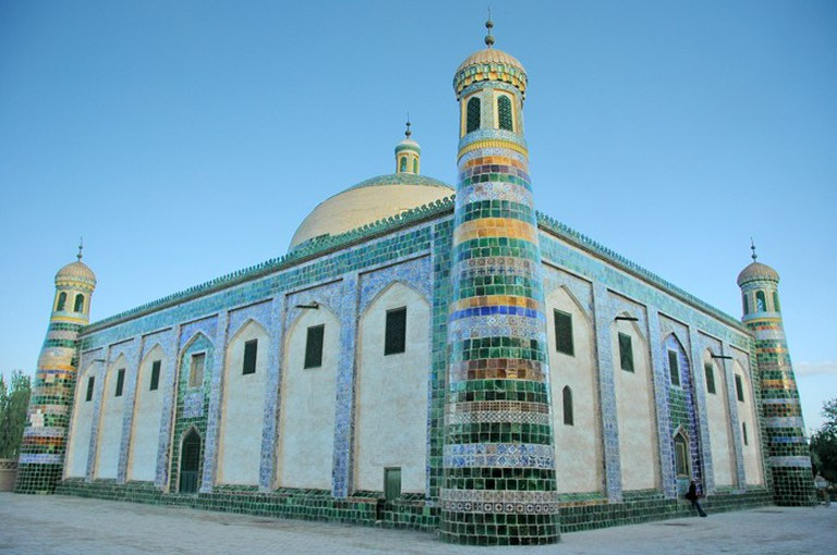 "The Id Kar Mosque in the western Chinese city of Kashgar, ""The Story of China"""