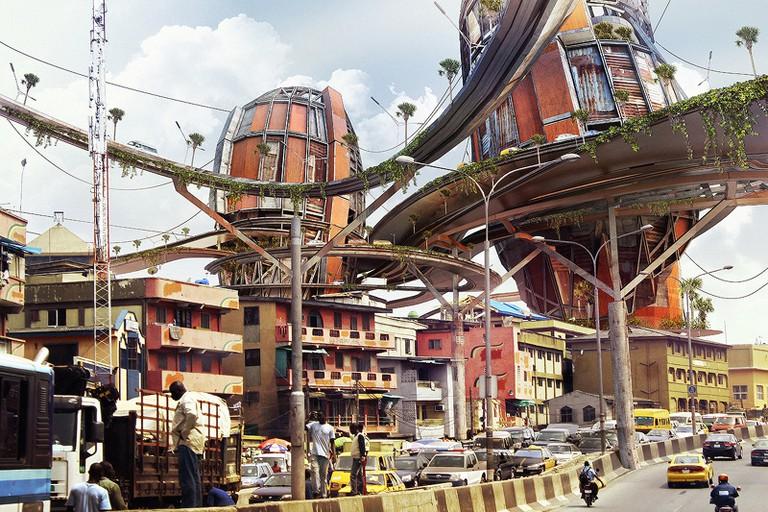 Mega-structures at Idumota Roadway