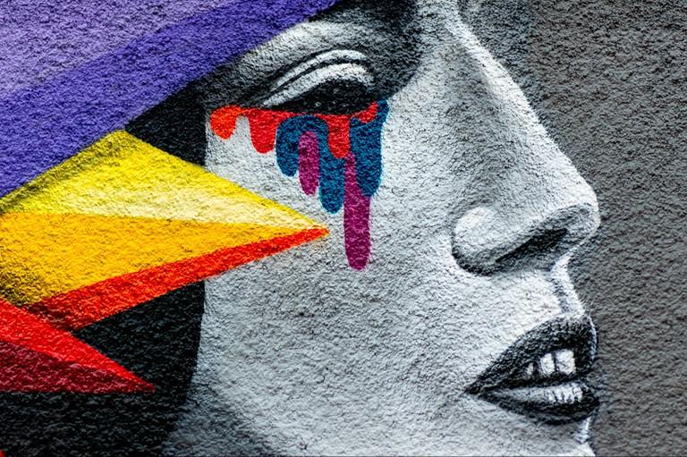 Street art in Lavapiés, Madrid
