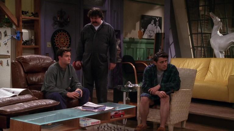 Joey and Chandler enjoying themselves