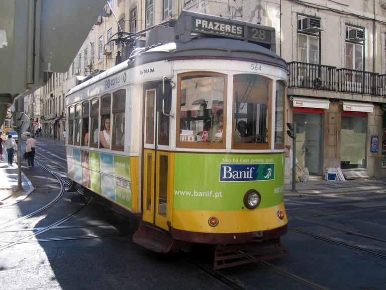 https://commons.wikimedia.org/wiki/File:Lisbon_tram_in_Baixa_Chiado.jpg