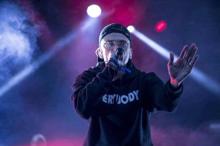Logic closing out the Big Apple stage on Sunday night of Governors Ball.