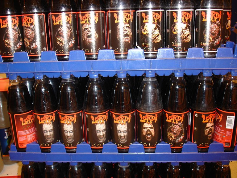 Lordi cola in a supermarket