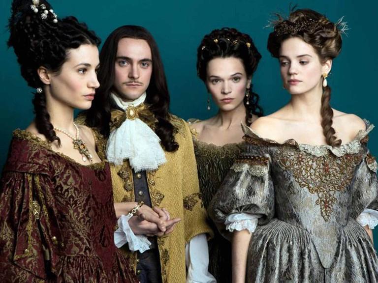 Louis XIV, Marie-Therese, Henriette, and Montespan │© Tibo & Anouchka / Capa Drama / Zodiak Ficion / Incendo / Canal+