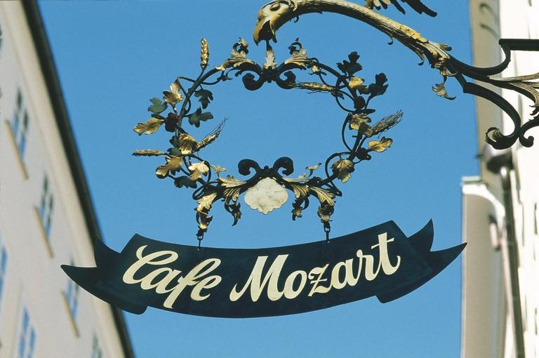 Cafe Mozart on Getreidegase Salzburg