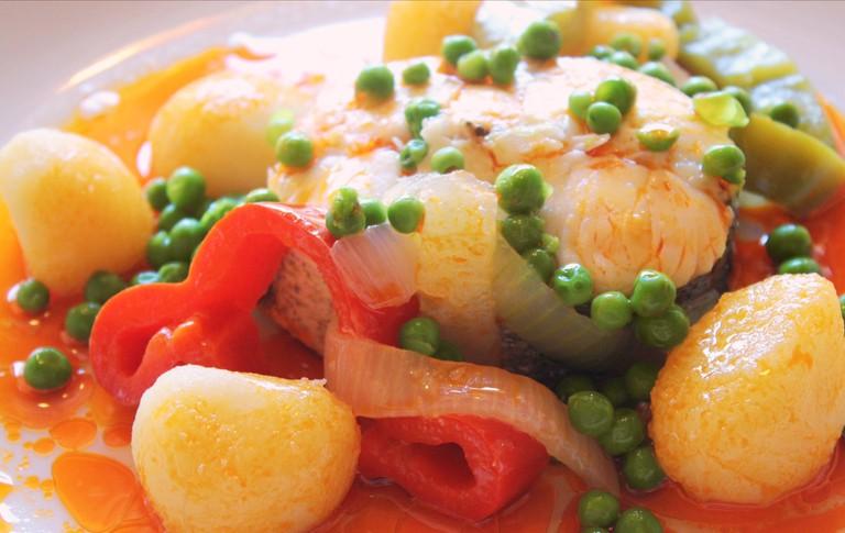 Merluza a la Gallega | ©Hotel Gastronomico Casa Rosalia / Flickr