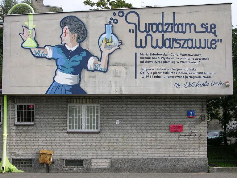 Mural Maria Skłodowska Curie I