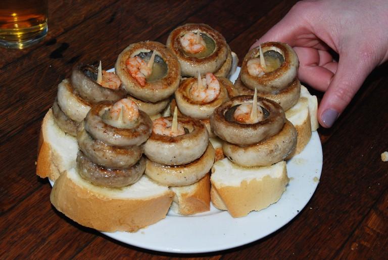 mushrooms at Bar Soriano, Logroño | ©Dan Convey